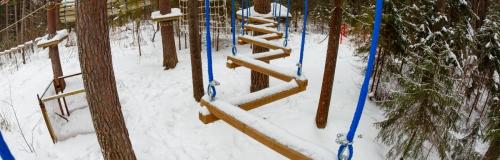 веревочный парк зимой