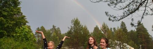 радуга в лагере