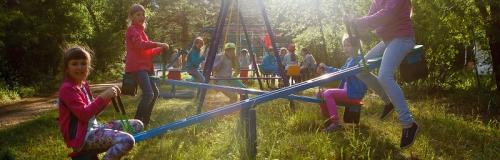 детская площадка в лагере